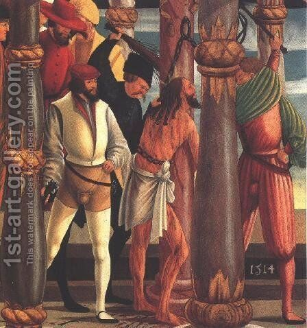 Flagellation 1514 by Hungarian Unknown Masters - Reproduction Oil Painting