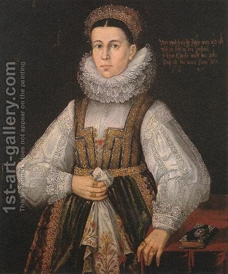 Middle Class Woman of Locse 1641 by Hungarian Unknown Masters - Reproduction Oil Painting