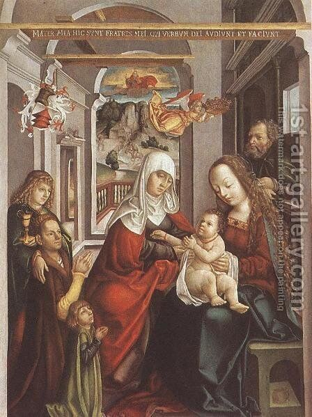 Saint Anne with the Virgin and the Child c. 1520 by Hungarian Unknown Masters - Reproduction Oil Painting