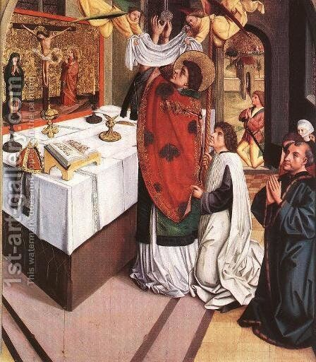 The Sermon of Saint Martin c. 1490 by Hungarian Unknown Masters - Reproduction Oil Painting