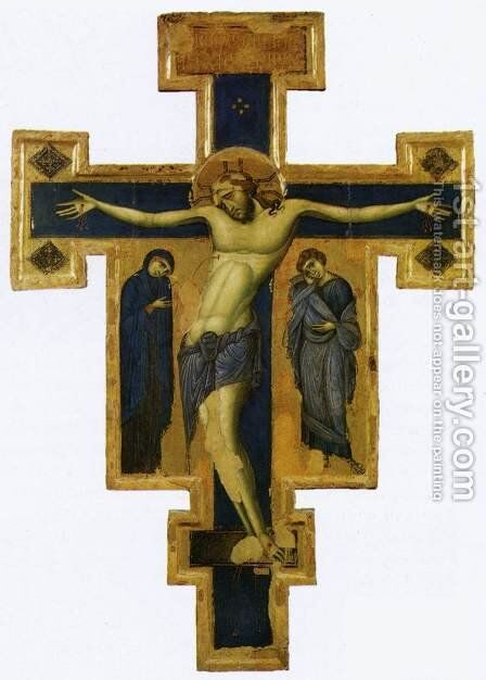 Crucifix (around 1250) by Italian Unknown Masters - Reproduction Oil Painting