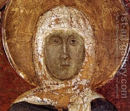 Story of St Margaret of Cortona (detail) c. 1298 by Italian Unknown Masters - Reproduction Oil Painting