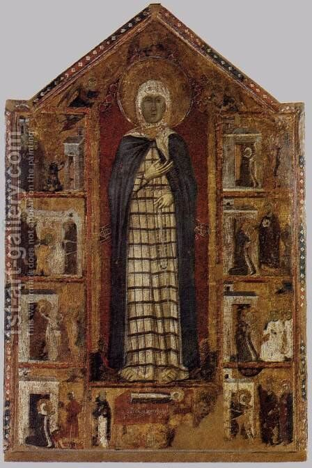 Story of St Margaret of Cortona c. 1298 by Italian Unknown Masters - Reproduction Oil Painting