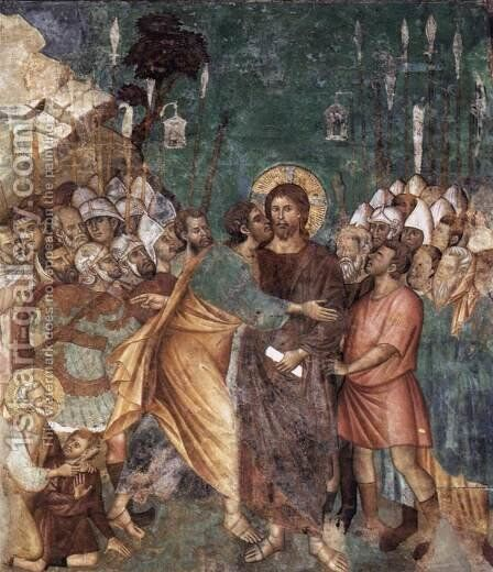 The Arrest of Christ 1290s by Italian Unknown Masters - Reproduction Oil Painting