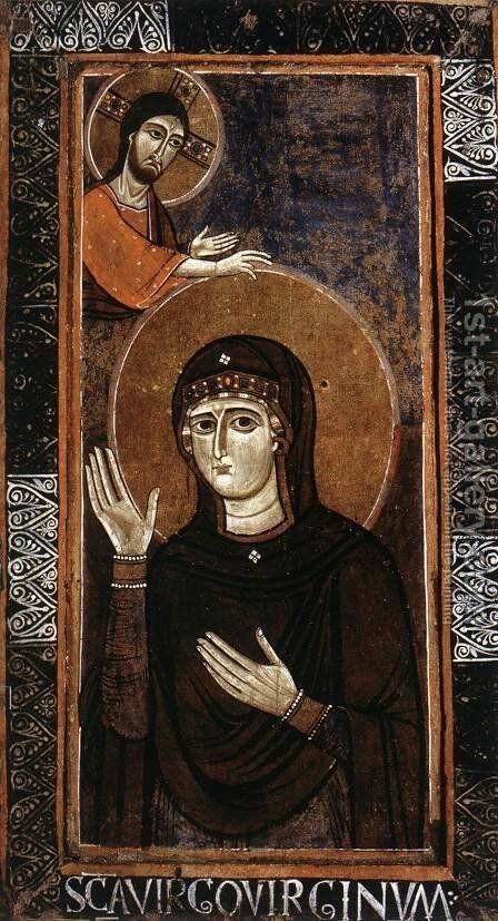 The Madonna as Advocate (Haghiosoritissa) 1150s by Italian Unknown Masters - Reproduction Oil Painting
