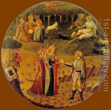 The Judgement of Paris 1430-40 by Italian Unknown Masters - Reproduction Oil Painting