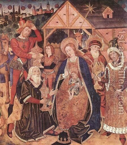 Adoration of the Magi 1450-1500 by Spanish Unknown Masters - Reproduction Oil Painting