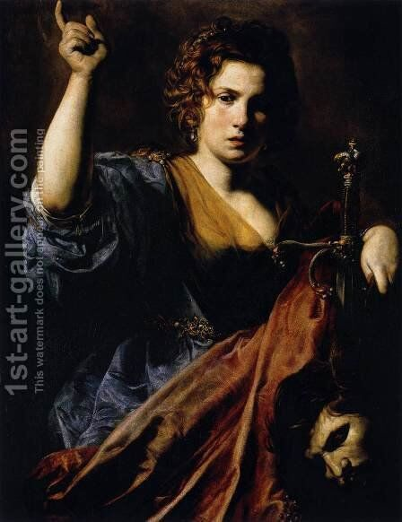 Judith 1626-28 by Jean de Boulogne Valentin - Reproduction Oil Painting