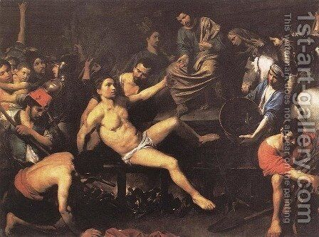 Martyrdom of St Lawrence 1621-22 by Jean de Boulogne Valentin - Reproduction Oil Painting