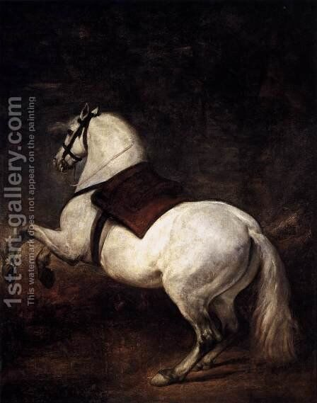 A White Horse 1634-35 by Velazquez - Reproduction Oil Painting