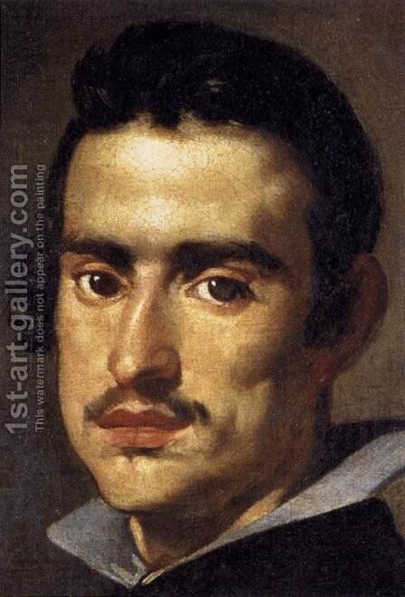 A Young Man (detail) 1623-24 by Velazquez - Reproduction Oil Painting