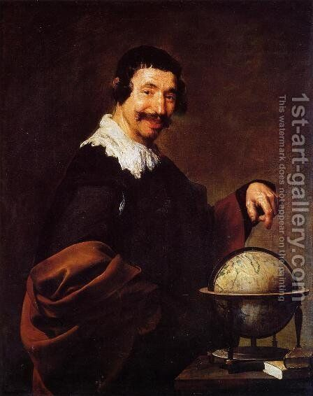 Democritus 1628-29 by Velazquez - Reproduction Oil Painting