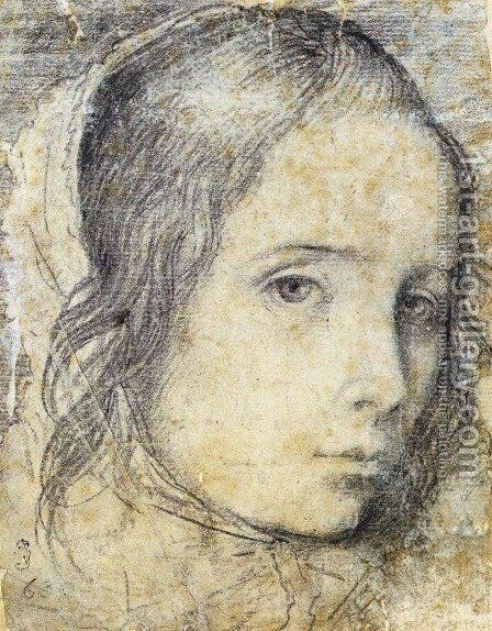Head of a Girl c. 1618 by Velazquez - Reproduction Oil Painting