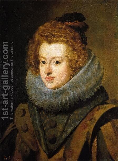 Infanta Dona Maria, Queen of Hungary 1630 by Velazquez - Reproduction Oil Painting