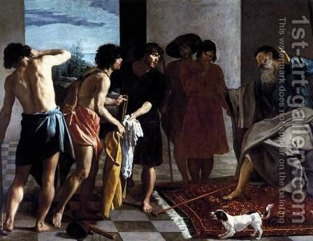 Joseph's Bloody Coat Brought to Jacob 1630 by Velazquez - Reproduction Oil Painting