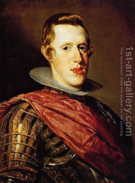 Philip IV in Armour c. 1628 by Velazquez - Reproduction Oil Painting