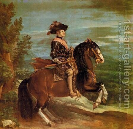 Philip IV on Horseback 1634-35 by Velazquez - Reproduction Oil Painting