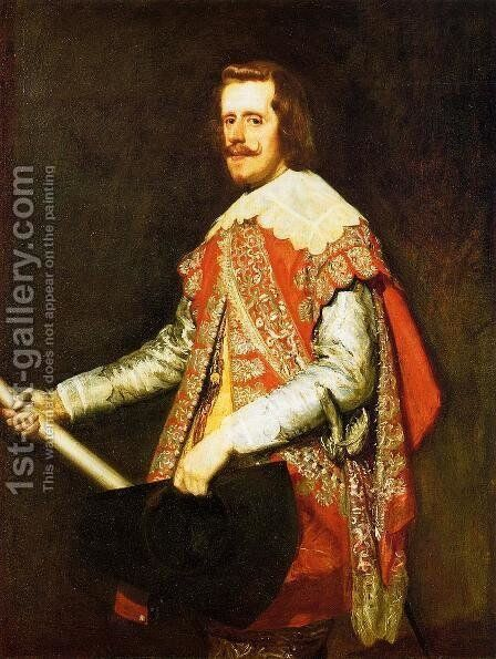 Phillip IV in Army Dress (The portrait of Fraga) 1644 by Velazquez - Reproduction Oil Painting