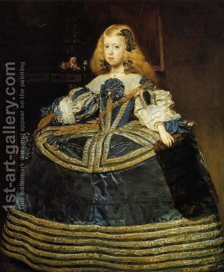 Portrait of the Infanta Margarita c. 1660 by Velazquez - Reproduction Oil Painting