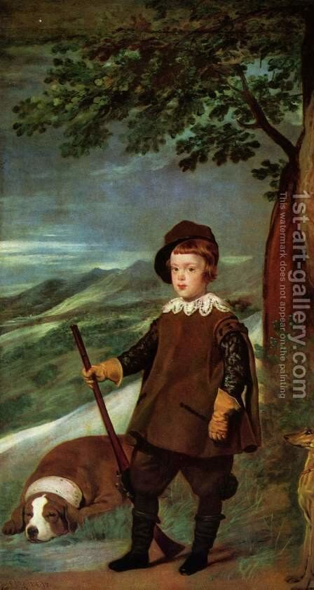 Prince Baltasar Carlos as a Hunter 1635-36 by Velazquez - Reproduction Oil Painting