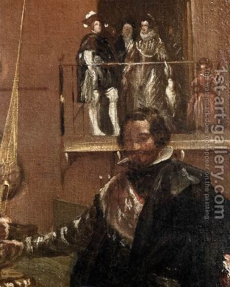 Prince Baltasar Carlos with the Count-Duke of Olivares at the Royal Mews (detail-1) c. 1636 by Velazquez - Reproduction Oil Painting