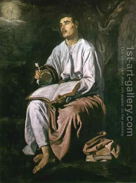 St John the Evangelist at Patmos c. 1618 by Velazquez - Reproduction Oil Painting