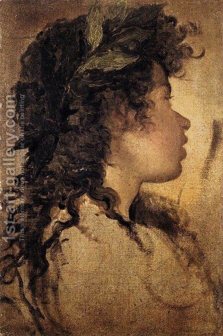 Study for the head of Apollo 1630 by Velazquez - Reproduction Oil Painting