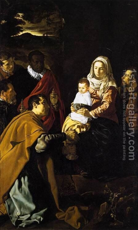 The Adoration of the Magi 1619 by Velazquez - Reproduction Oil Painting