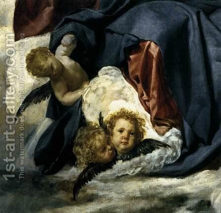 The Coronation of the Virgin (detail) 1645 by Velazquez - Reproduction Oil Painting