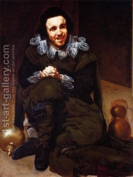 The Dwarf Don Juan Calabazas, called Calabacillas 1637-39 by Velazquez - Reproduction Oil Painting