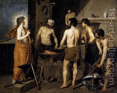 The Forge of Vulcan 1630 by Velazquez - Reproduction Oil Painting