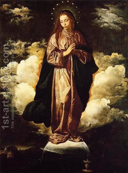 The Immaculate Conception c. 1618 by Velazquez - Reproduction Oil Painting