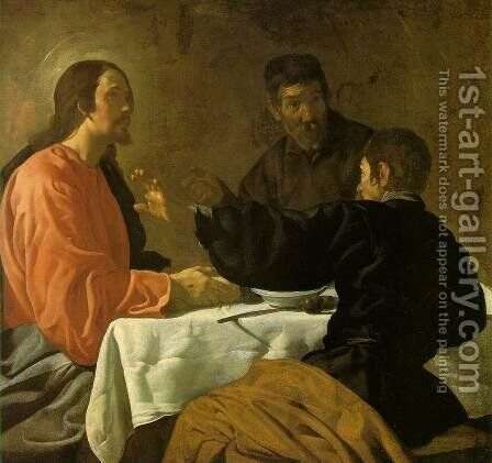 The Supper at Emmaus c. 1620 by Velazquez - Reproduction Oil Painting