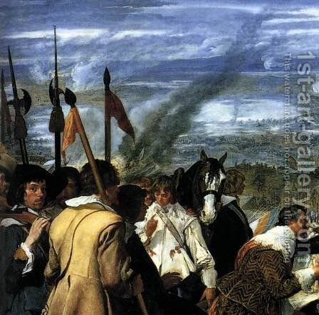 The Surrender of Breda (detail-1) 1634-35 by Velazquez - Reproduction Oil Painting