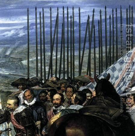 The Surrender of Breda (detail-4) 1634-35 by Velazquez - Reproduction Oil Painting