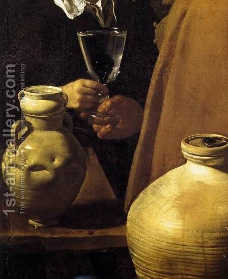 The Waterseller of Seville (detail) 1623 by Velazquez - Reproduction Oil Painting