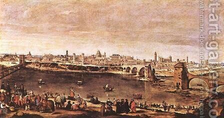 View of Zaragoza 1647 by Velazquez - Reproduction Oil Painting