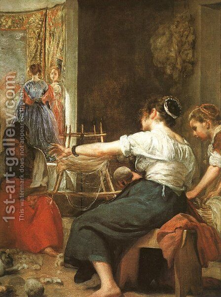 The Fable of Arachne - The Spinners (detail) 1657 by Velazquez - Reproduction Oil Painting