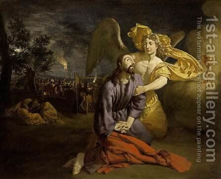 Agony in the Garden 1665 by Adriaen Van De Velde - Reproduction Oil Painting