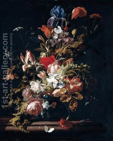 Flower Still-Life by Simon Pietersz. Verelst - Reproduction Oil Painting