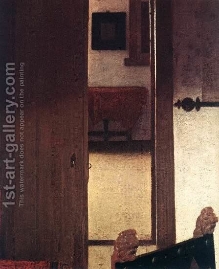 A Woman Asleep at Table (detail-4) c. 1657 by Jan Vermeer Van Delft - Reproduction Oil Painting