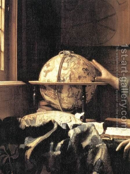 The Astronomer (detail) c. 1668 by Jan Vermeer Van Delft - Reproduction Oil Painting