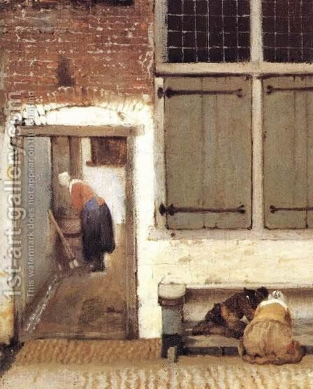 The Little Street (detail-2) 1657-58 by Jan Vermeer Van Delft - Reproduction Oil Painting