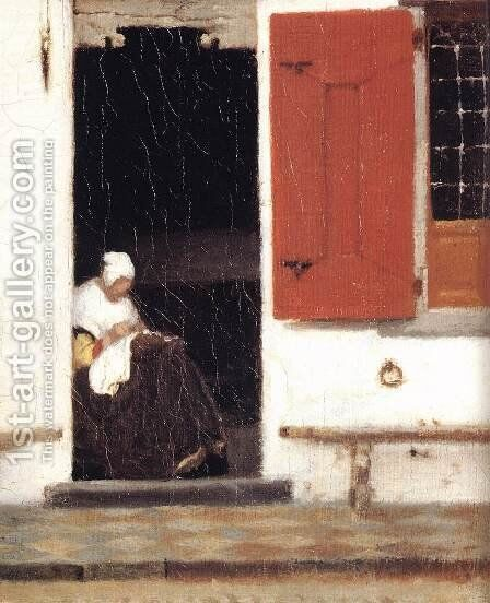 The Little Street (detail-4) 1657-58 by Jan Vermeer Van Delft - Reproduction Oil Painting