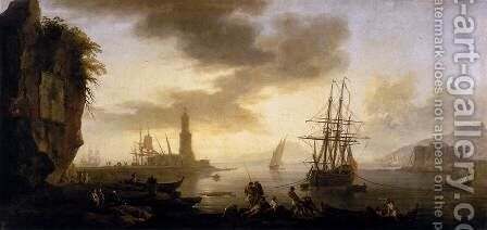 Seascape- Calm 1735-40 by Claude-joseph Vernet - Reproduction Oil Painting