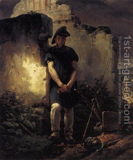 Soldier-Labourer 1820 by Horace Vernet - Reproduction Oil Painting