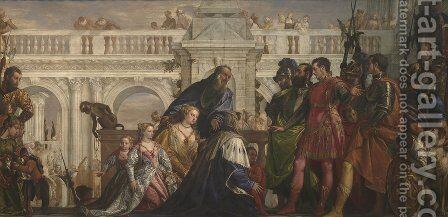The Family of Darius before Alexander 1565-70 by Paolo Veronese (Caliari) - Reproduction Oil Painting