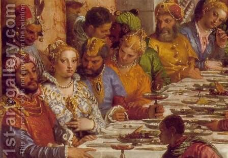 The Marriage at Cana (detail-1) 1563 by Paolo Veronese (Caliari) - Reproduction Oil Painting