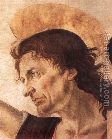 The Baptism of Christ (detail) 1472-75 by Andrea Del Verrocchio - Reproduction Oil Painting