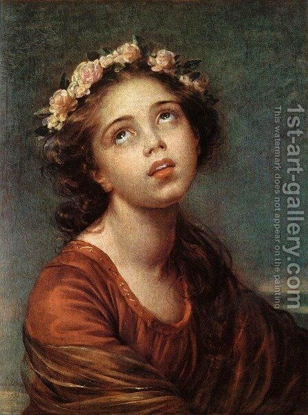 The Daughter's Portrait by Elisabeth Vigee-Lebrun - Reproduction Oil Painting